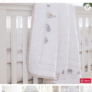 Pottery Barn Sweet Animal Baby Bedding Quilt